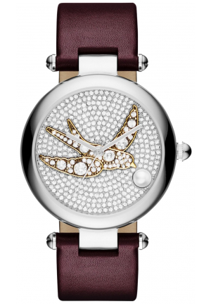 Dotty Oxblood Leather Strap Watch 34mm