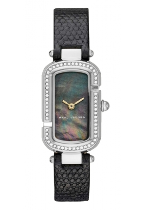 Marc Jacobs Women's The Jacob Black Leather Strap Watch 20x31mm
