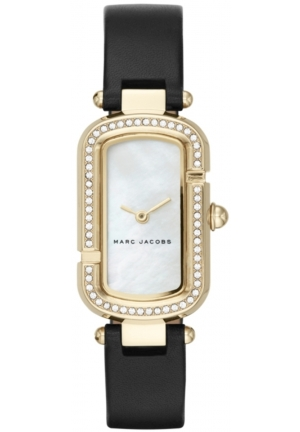 Women's Marc Jacobs The Jacob Black Leather Strap Watch