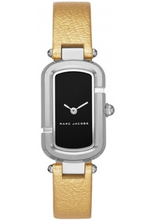 Marc Jacobs Women's The Jacob Metallic Gold-Tone Leather Strap Watch 20x31mm