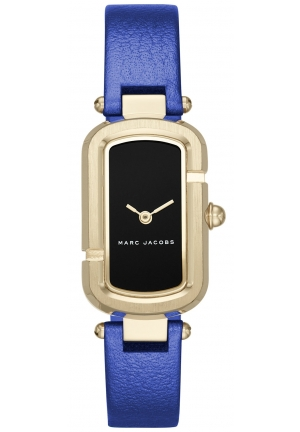 Marc Jacobs Women's The Jacob Metallic Blue Leather Strap Watch 20x31mm