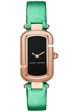 Marc Jacobs Women's The Jacob Metallic Green Leather Strap Watch 20x31mm