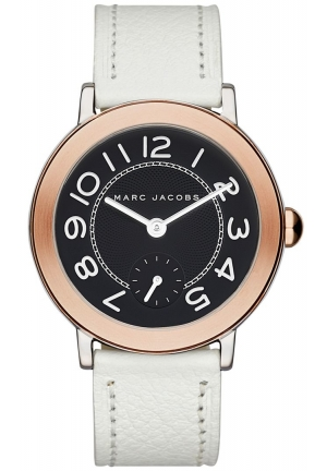 Marc Jacobs Women's Riley White Leather Watch -