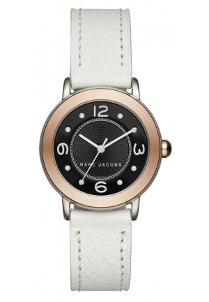 Marc Jacobs Women's Riley White Leather Strap Watch 28mm