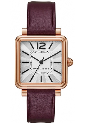 Marc Jacobs Women's Vic Dark Cherry Leather Watch