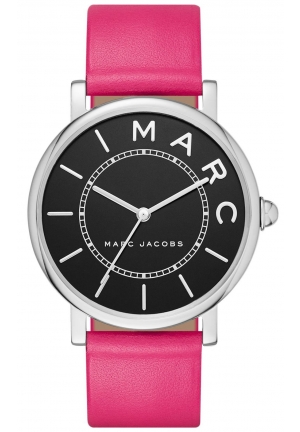 Marc Jacobs Roxy Black Dial Ladies Pink Leather Watch