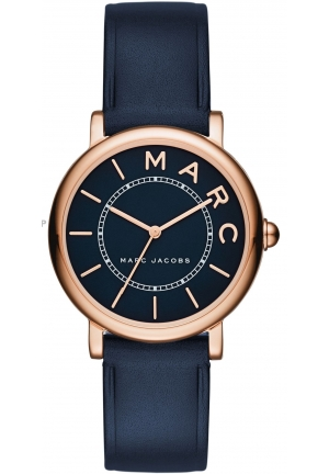 Marc by Marc Jacobs Women's Roxy Navy Leather Strap Watch 28mm