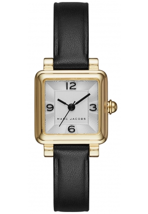Marc Jacobs Women's Black Leather Square 20x20mm