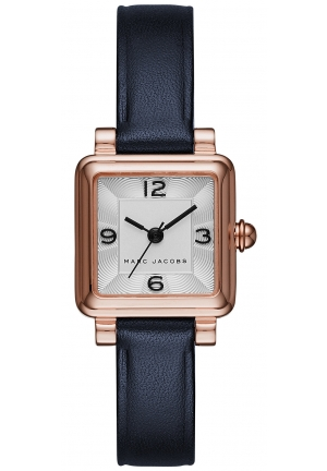Marc Jacobs Women's Vic Navy Leather Strap Watch 20x20mm