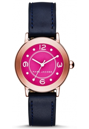Marc Jacobs Women's Riley Navy Leather Strap Watch 36mm