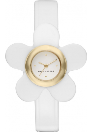 MARC JACOBS DAISY GOLD-TONE AND WHITE