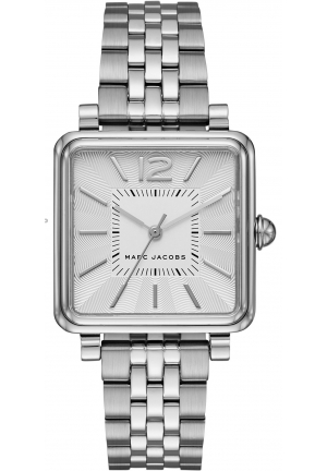 Marc by Marc Jacobs Ladies Vic Silver Square Watch