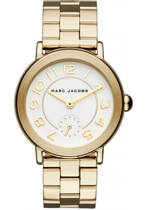 Marc Jacobs Riley Watch Gold Tones Steel, 36mm