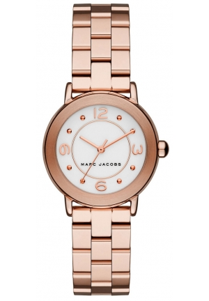 MARC JACOBS RILEY WATCH ROSE GOLD TONES STEEL, 36MM
