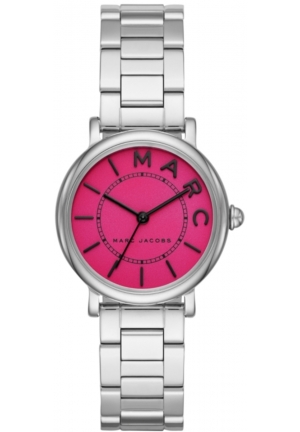 Marc Jacobs Roxy Fuchsia Dial Ladies Stainless Steel Watch
