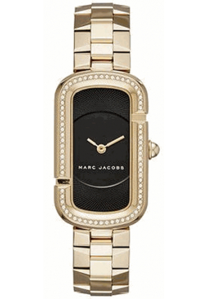 Marc Jacobs The Jacobs Black Dial Ladies Gold Tone Watch MJ3532