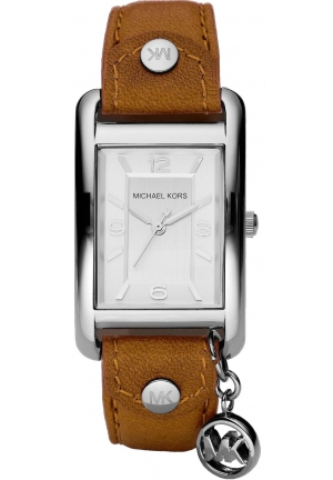 Michael Kors Ladies Brown Leather Strap Watch 26mm