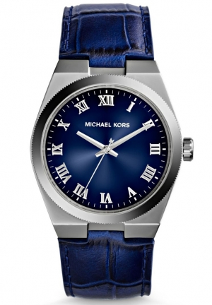 MICHAEL KORS Channing Blue Crocodile-Embossed  Watch