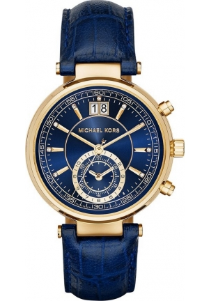 MICHAEL KORS Sawyer Analog Display Analog Quartz Blue Watch 39 mm