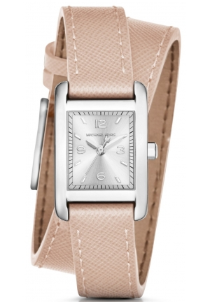 MICHAEL KORS  Taylor Silver-Tone And Leather Wrap Watch