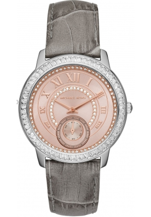 MICHAEL KORS  Madelyn Pavé Two-Tone And Leather Watch