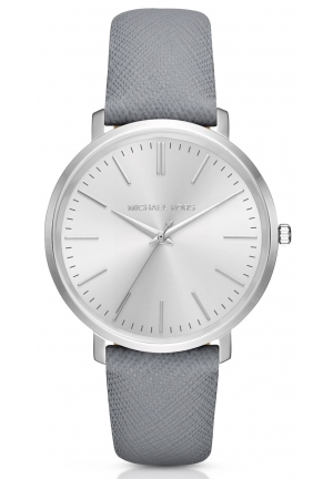 MICHAEL KORS  Jaryn Grey Leather-Band Watch