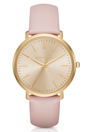 MICHAEL KORS  Jaryn Pink Leather-Band Watch