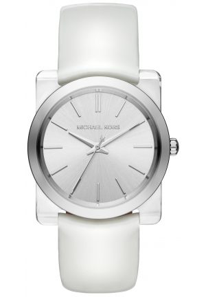 Kempton Silver-Tone Leather-Band Watch