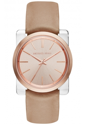 MICHAEL KORS Kempton Rose Gold Tone Dial Ladies Watch 39mm