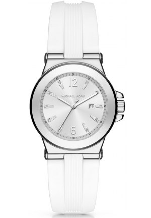 MICHAEL KORS  Mini Dylan Silver-Tone And Silicone Watch MK2498