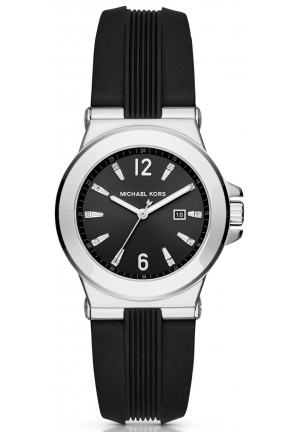 MICHAEL KORS  Mini Dylan Silver-Tone And Silicone Watch