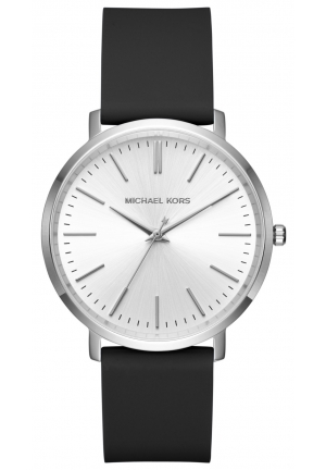 MICHAEL KORS  Jaryn Silver-Tone And Silicone Watch