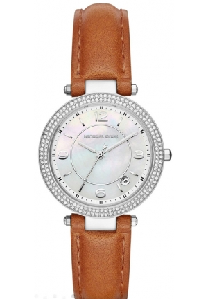 Michael Kors Women Pearly White Dial Watch