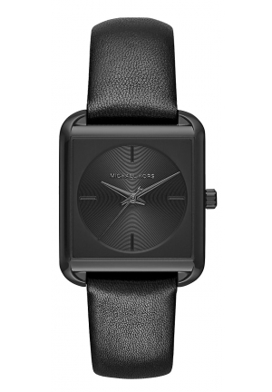 Lake Black-Tone IP And Leather Watch 32MM