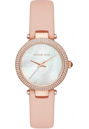 Mini Parker Rose Gold-Tone and Pink Leather Three-Hand Watch