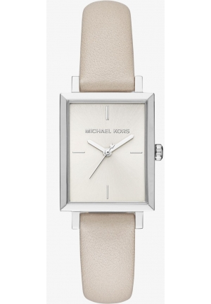 MICHAEL KORS  Harway Silver-Tone And Leather Watch