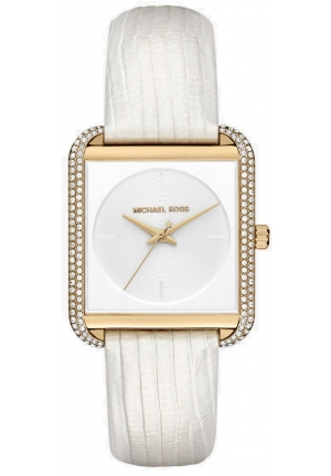 Lake Pavé Gold-Tone And Embossed-Leather Watch