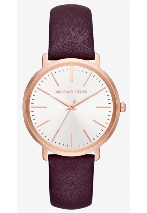 MICHAEL KORS  Jaryn Rose Gold-Tone And Leather Watch