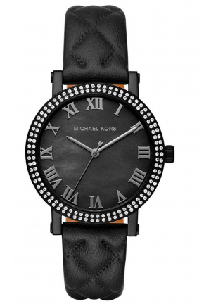 NORIE BLACK DIAL LADIES CYSTAL WATCH
