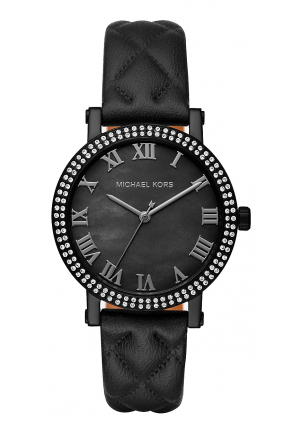 Norie Pavé Quilted Leather Watch 38mm