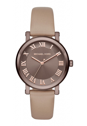 NORIE SABLE-TONE AND LEATHER WATCH 38MM