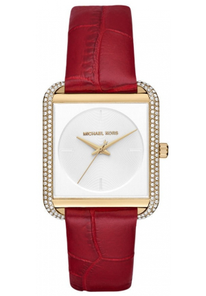 Michael Kors Lake Red Leather Ladies Watch