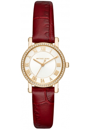 Michael Kors Watch Petite Norie Red Ladies