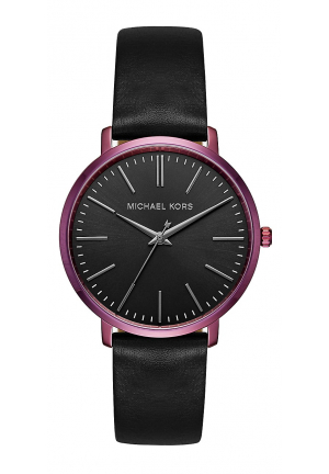 Jaryn Plum-Tone And Leather Watch 38mm