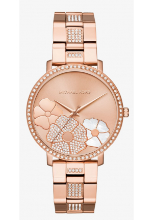 MICHAEL KORS Jaryn Pavé Rose Gold-Tone Watch