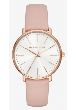 MICHAEL KORS Pyper Rose Gold-Tone Leather Watch
