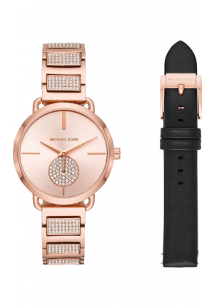 Portia Rose Gold-tone Watch Set