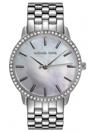 MOP Ladies 5- Link Round Mother of Pearl with Glitz 35mm