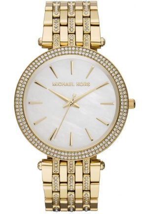 Darci Mother of Pearl Dial Gold Steel Crystal Ladies Watch 39mm