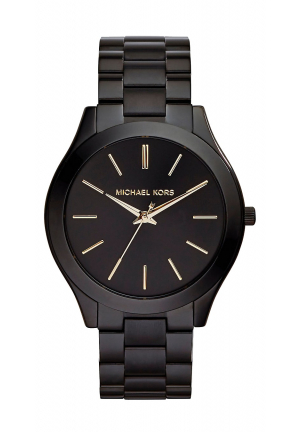 Slim Runway Black Stainless Steel Watch 42mm